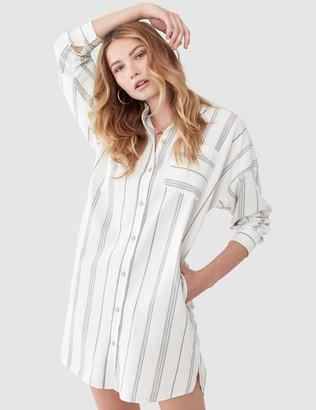 ATM Anthony Thomas Melillo Stripe Shirt Dress