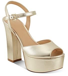 Marc Fisher Women's Stacey Peep Toe High Heel Platform Sandals