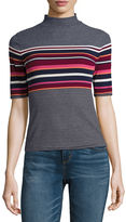 Arizona Elbow-Sleeve Mockneck Top - Juniors