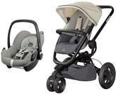 Quinny Buzz Xtra Pushchair (Reworked Grey) And Maxi Cosi Pebble Car Seat (Grey Gravel) Travel System Bundle