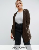 Asos Longline Cardigan in Ripple Stitch