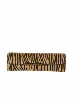 Cartier Zebra Flap Clutch Brown
