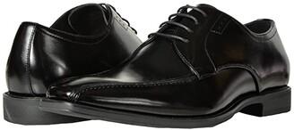 Stacy Adams Logan Bike Toe Oxford (Black) Men's Slip-on Dress Shoes