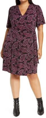 MICHAEL Michael Kors Paisley Print Wrap Dress