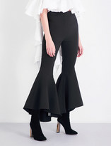 Ellery Sinuous flared stretch-crepe trousers