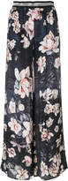 Just Cavalli rose print trousers