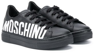 MOSCHINO BAMBINO Logo Low-Top Sneakers