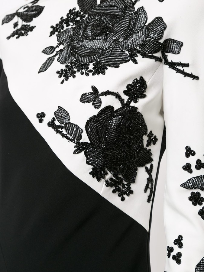 Thumbnail for your product : Carolina Herrera Floral-Lace Gown