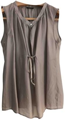 Mauro Grifoni Beige Silk Top for Women