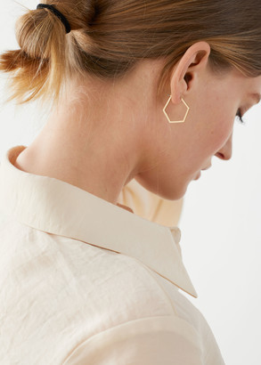 And other stories Hexagon Hoop Earrings