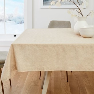 west elm Belgian Flax Table Throw