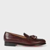 Paul Smith Men's Bordeaux Leather 'Simmons' Tasseled Loafers With Charms