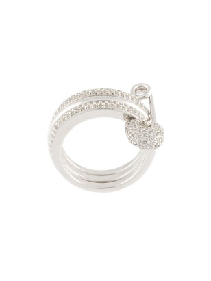 APM Monaco Baby XL triple hoops safety pin ring