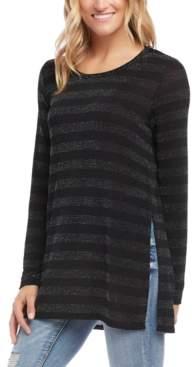 Karen Kane Metallic Striped Tunic