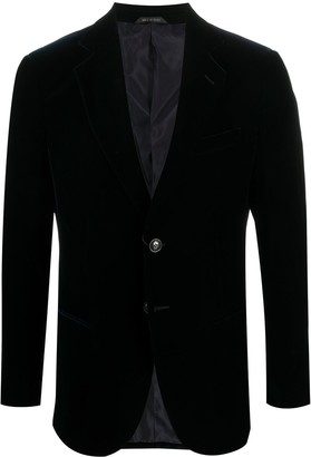Giorgio Armani Velvet Single-Breasted Blazer