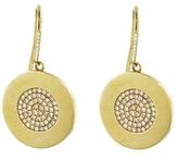 Jennifer Meyer Large Circle Diamond Drop Earrings