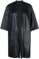 Natori faux leather oversized jacket