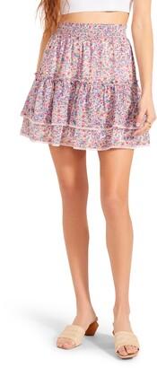 BB Dakota Nothing Bud Love Floral Smocked Skirt