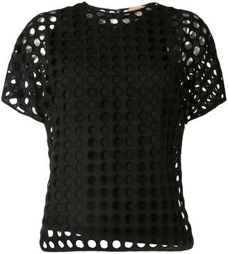 No.21 layered cut-out T-shirt