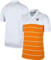 Nike Men's White/Tennessee Orange Tennessee Volunteers Striped Polo