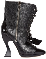 Loewe Curved-heel leather lace-up boots
