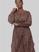 M&Co Izabel Curve animal print curve hem dress