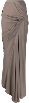 Rick Owens Asymmetric Maxi Skirt