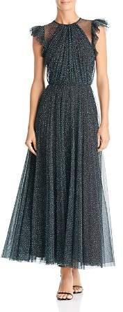 Jill Stuart Flocked Tulle Gown