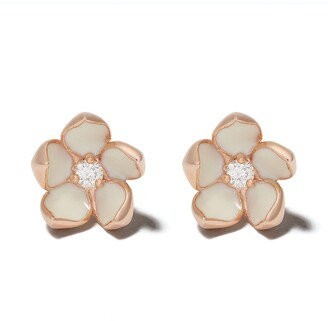 Shaun Leane Cherry Blossom diamond flower earrings