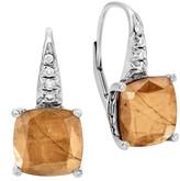 John Hardy Sterling Silver Pave Diamond Earrings - 0.16 ctw