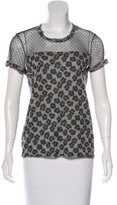 RED Valentino Leopard Print Short Sleeve T-Shirt