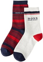 HUGO BOSS Set Of 2 Striped Pairs Of Socks (Baby) - Rouge - 37