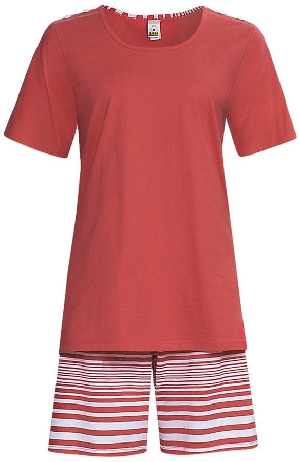Calida Sea Coast Short Pajamas - Cotton Jersey, Short Sleeve (For Women)