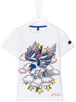 Armani Junior bird print T-shirt - kids - Cotton - 4 yrs