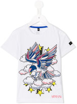 Armani Junior bird print T-shirt