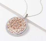 Diamonique LUX VUE Magnifying Glass Pendant Necklace