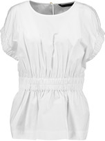 Marc by Marc Jacobs Gathered cotton-blend poplin top