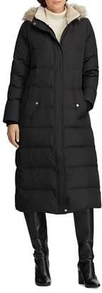 Ralph Lauren Faux Fur-Trim Maxi Puffer Coat