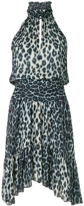 A.L.C. Leopard Print Silk Mini Dress