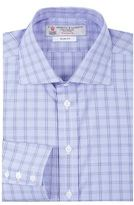 Turnbull & Asser Checked Grid Slim Shirt