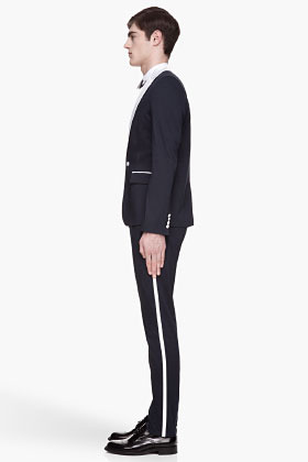 Balmain PIERRE Navy contrast-trimmed Tuxedo