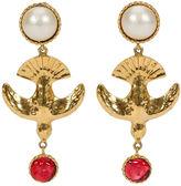 One Kings Lane Vintage 1970s Chanel Rare Gripoix Bird Earrings
