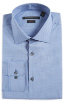 John Varvatos Men's Soho Slim Fit Stretch Check Dress Shirt