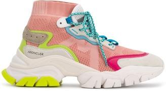 Moncler Mesh Panel Hi-Top Sneakers