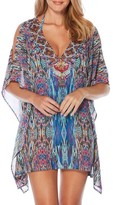 Laundry by Shelli Segal Women's Abstract Feathers Cover-Up Tunic