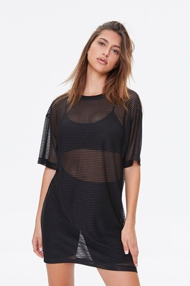 Forever 21 Shadow-Striped T-Shirt Dress