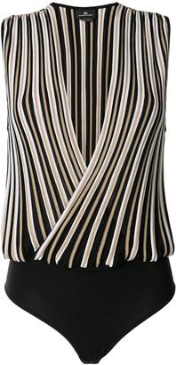 Elisabetta Franchi Knitted Striped Bodysuit
