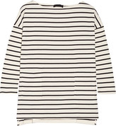 Hatch The Bateau Striped Cotton Top - Ivory
