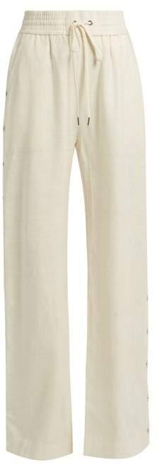 Zimmermann Cavalier Buttoned Side Wide Leg Silk Trousers - Womens - Ivory