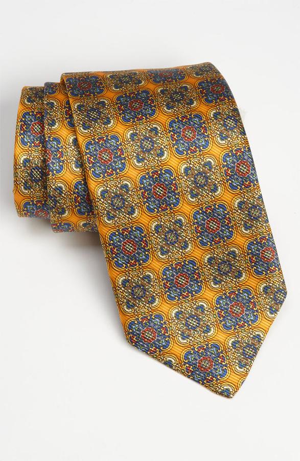 Robert Talbott Woven Silk Tie Gold Regular